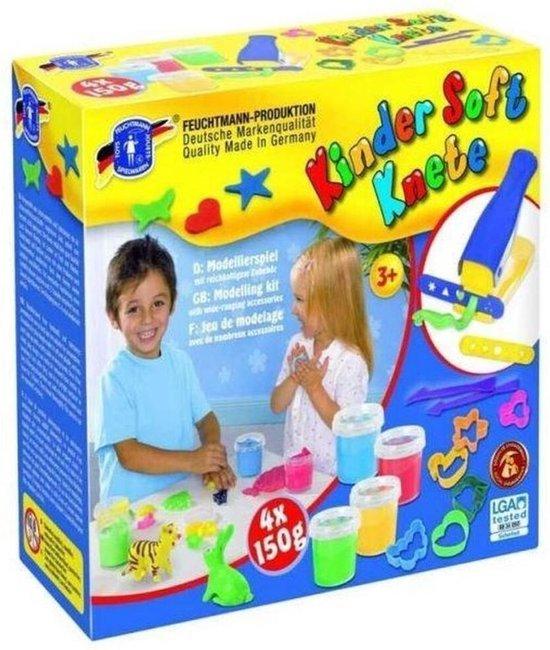Feuchtmann Kinder Soft Knete Klei Fabriek 4 X 150 Gram