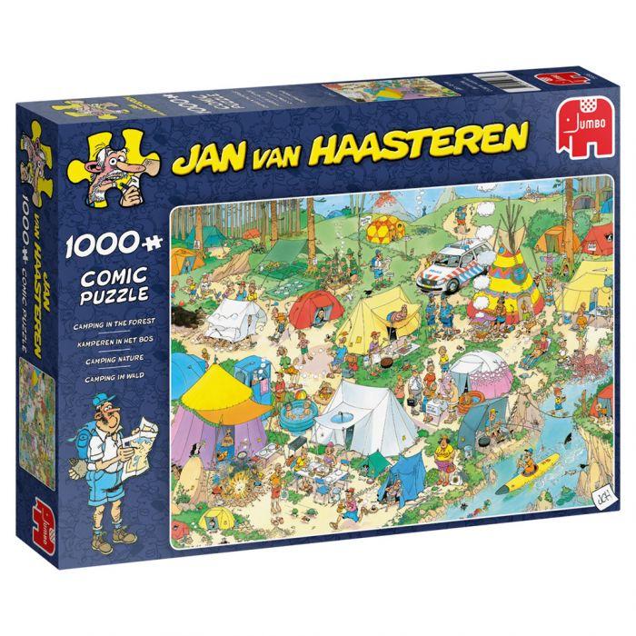Puzzel Jan Van Haasteren Kamperen In Het Bos 1000 Stukjes