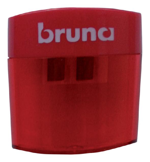 Puntenslijper Bruna dubbel plastic rood