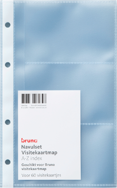 Navulset Bruna visitekaartmap