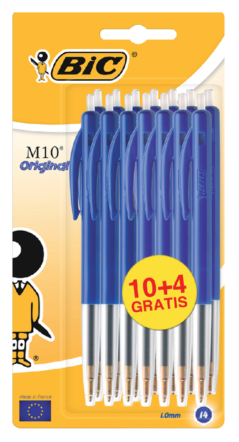 Balpen Bic M10 blauw medium