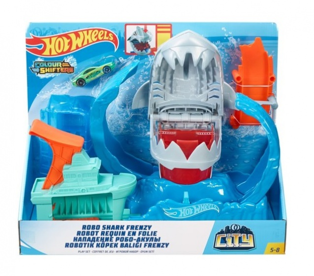 Hot Wheels racebaanset City Robo Shark