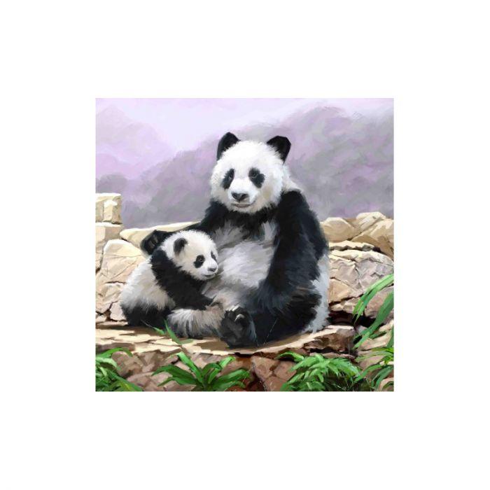 Crystal Art Kaart Panda 18 X 18 Cm, diamond painting