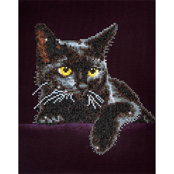 Diamond Dotz Cat Midnight 28x36cm