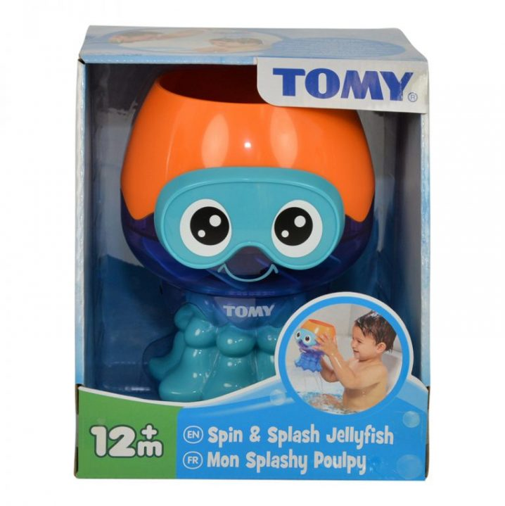 Badspeelgoed Tomy Spin + Spuit Inktvis