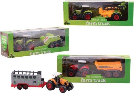Johntoy Tractor Farm Master Staal 27,2 Cm Groen/geel