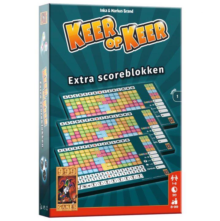 Spel Keer Op Keer Scoreblok 3 Stuks