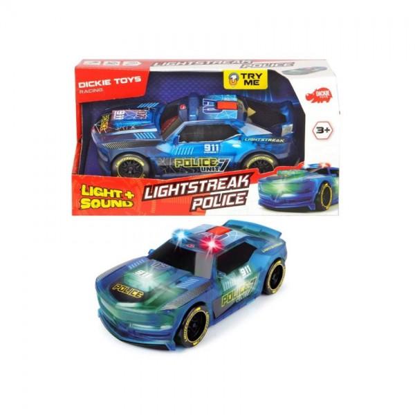 Auto Lightstreak Police B/O 20 Cm