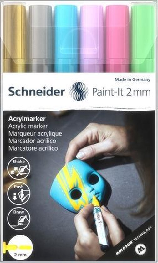 Acryl Marker Schneider Paint-it 310 2mm etui 6st.