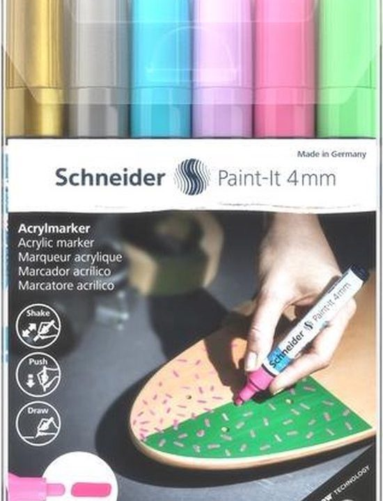 Acryl Marker Schneider Paint-it 320 4mm etui 6st.