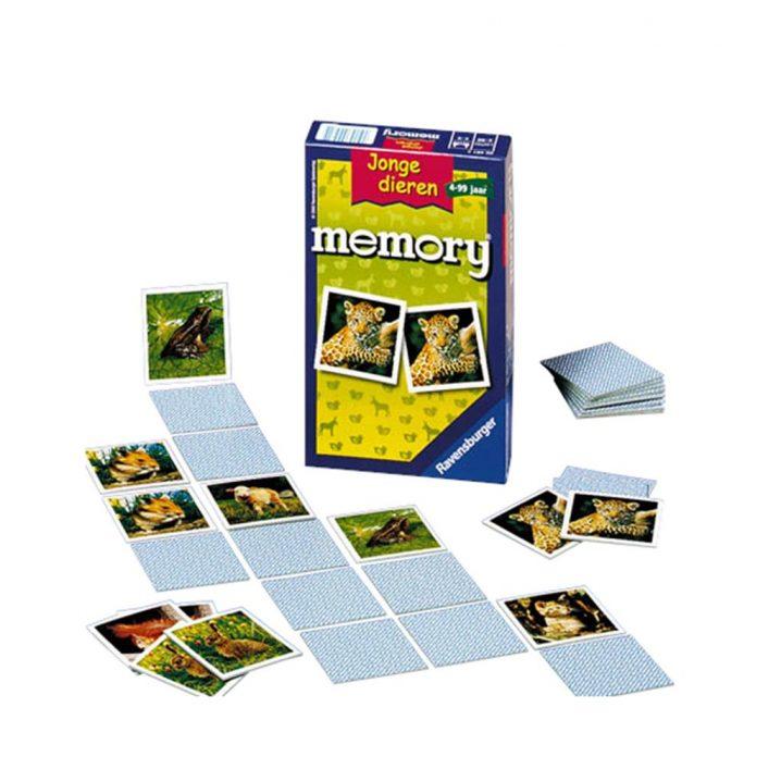 Spel Memory Jonge Dieren Pocket
