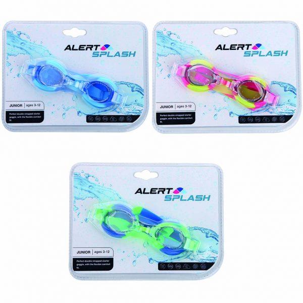 Alert Splash Zwembril 3-12 Jaar Maat S/M 3 Assorti