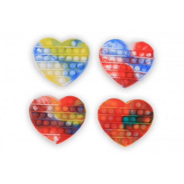 Magic fidget pop it tie dye hart